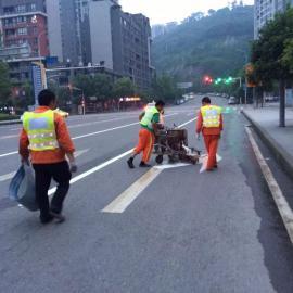 重庆马路专业划线施工公司 热熔标线企业