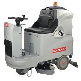 驾驶式洗地机凯叻KL660B大型车库商场工厂车间用驾驶式清洗机