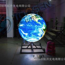 科技馆p6球型直径1.5米LED显示屏吊装价格