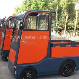 普尔夫厂家电动牵引车、可牵引平板拖车 牵引挂车机场