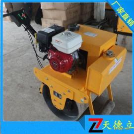 600手扶式单钢轮压路机 5.5马力汽油手扶式压路机