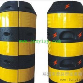 警示电杆防撞桶 滚塑电线杆防撞墩定做