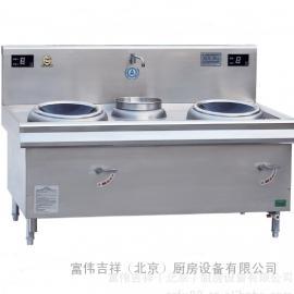 鼎龙商用电磁灶DL-8KWX2-A 双炒单尾电磁炉 商用