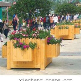 谐诚户外家具绿化景观花箱花车木质花坛花槽 4134