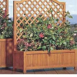 谐诚户外家具景观花箱花车木质花坛花槽花架组合 4166