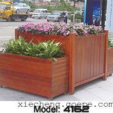 谐诚户外家具碳化木小区花箱花车木质花坛花槽 4162