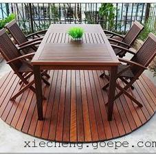 谐诚户外家具休闲园林桌椅新款高档菠萝格别墅桌椅1145