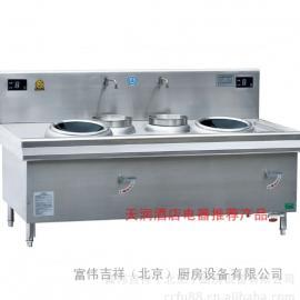 鼎龙商用电磁炉DL-8KWX2-A 大功率 双炒双尾看电视灶
