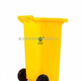 新津县240升脚踏垃圾桶 赛普塑业中间脚踏塑料垃圾桶
