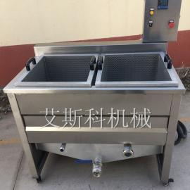厂家供应小型电加热油炸机全自动带搅拌油炸机油水混合自动滤渣