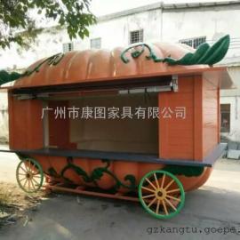 河南景区防腐木售货车 多功能木质售货车 内蒙古移动售货车