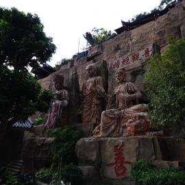雕|石雕雕像白龙潭度假村佛雕浮雕