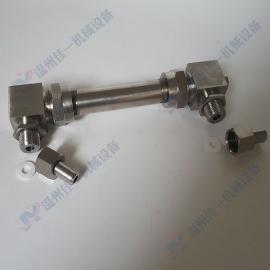 温州活接式小型玻璃管液位计 侧装式直角玻璃管水位计 油位计