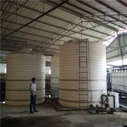 广东15吨水处理耐酸碱塑料大桶 15吨PE蓄水水箱