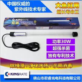 厂家直销紫盾30w直管一体潜水硅胶内置H型潜水杀菌灯