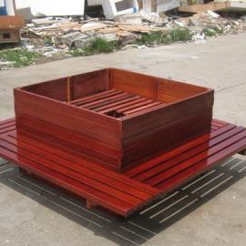 实木花箱、座椅花箱、木质组合花箱、园林绿化木箱、防腐木花架、