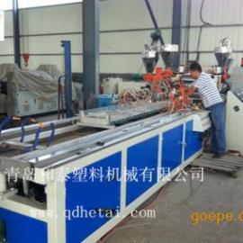 塑料外墙挂板生产线,PVC挂板生产设备机器,和泰深度验厂