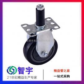 东莞精益管脚轮|东莞普尔|PU插杆定向脚轮厂家直销