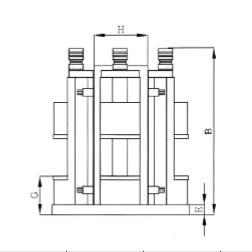 BHV-100-4VB直立式4台增压角固虎钳附治具桶
