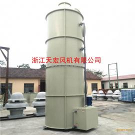 FRP安全玻璃喷淋脱硫塔 酸雾吸收塔 天宏安全玻璃边角料塔