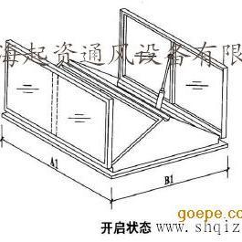 专业生产C1T-1220一字形排烟天窗