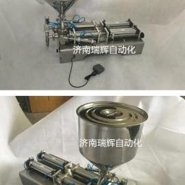 *新款护手霜脚踏式电动充填机¥小麦胚芽油全自动罐装机|
