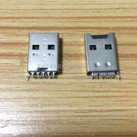 USB A公+TF二合一&OTG夹板公头TF卡座卡槽带AM