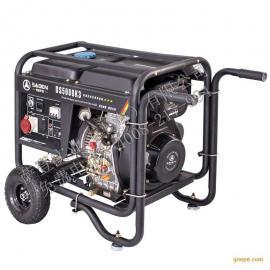 6000瓦柴油发电机便携式移动发电机