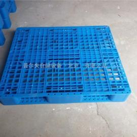 1210川字网格塑料托盘 蓝色纯新料卡板 塑料栈板叉车托板