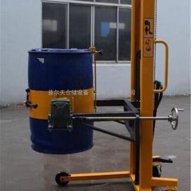 厂价直销抱箍式手动油桶倒料车 油桶堆高车 手动油桶翻转车