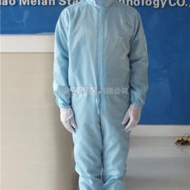 宁夏美安蓝色导电绸四连体防静电服销售生产商