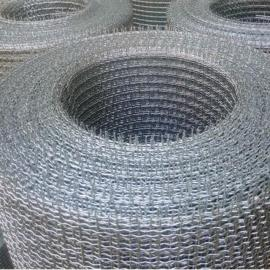 石河子方眼热镀锌铁丝网轧花网-伊宁3MM锰钢筛网(承重网)