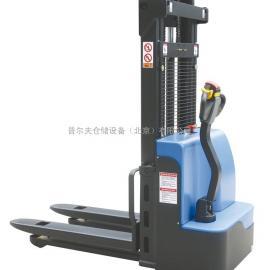 北京供应偏置全自动堆高车 经济型步行全电动叉车 电动堆垛车