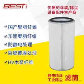 厂家直销 除尘器滤筒 除尘滤芯 覆膜聚酯纤维滤筒