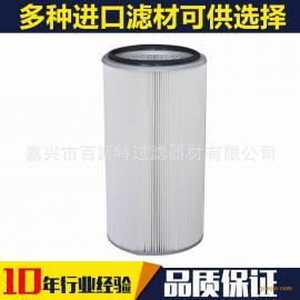 厂家直供 优质覆膜聚酯纤维除尘滤筒除尘滤芯