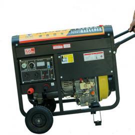 300A能发电的柴油发电电焊机,双缸发电焊机