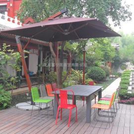 别墅庭院遮阳伞馨宁居豪华木吊伞地产售楼处户外遮阳伞