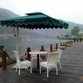 华银天鹅湖景区休闲太阳伞餐饮咖啡户外遮阳伞单边伞物业岗亭伞