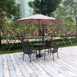 馨宁居户外庭院伞中柱偏转带灯伞园林庭院花园太阳伞