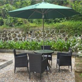 馨宁居中柱铝伞餐椅咖啡户外伞酒店会所露台庭院伞户外遮阳伞