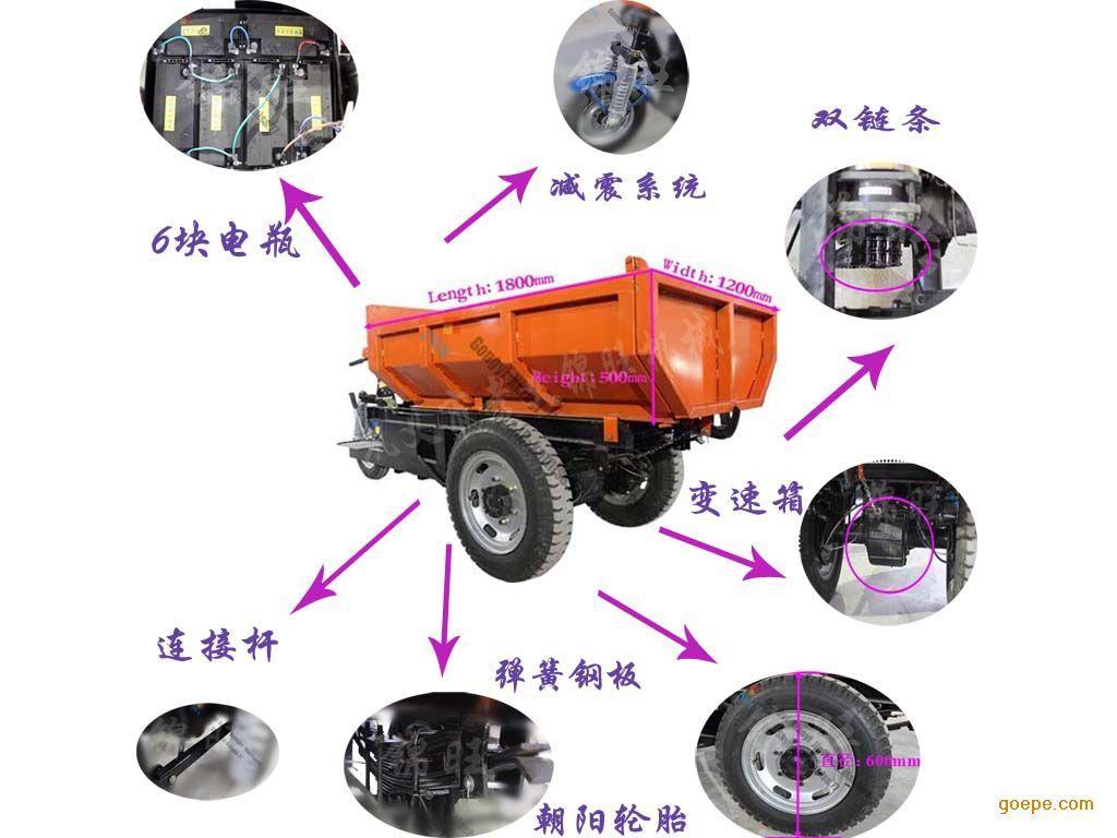 重庆市72V150AH电动自卸车品质优越,载重量大