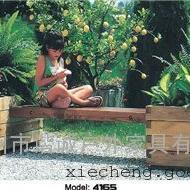 谐诚户外家具绿化城市花箱花车实木花坛花槽4165