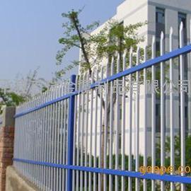 蓝色横杆白色竖杆的围墙护栏叫锌钢护栏网