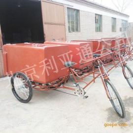 厂家生产批发玻璃钢三轮保洁车、不锈钢环卫车、脚踏铁板垃圾车