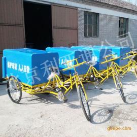 厂家直销物业铁板三轮保洁车环卫垃圾车不锈钢人力保洁车垃圾车