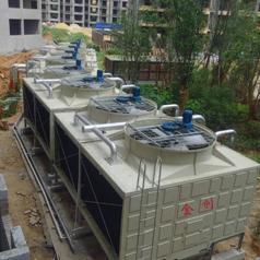 专业玻璃钢冷却塔厂家直销河南金创方型横流式冷却塔