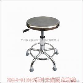 防静电不锈钢凳子 螺旋升降圆凳 医院实验室用无尘圆凳子