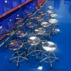 生产定制不锈钢升降圆凳 pu无尘升降凳子 防静电车间工作凳