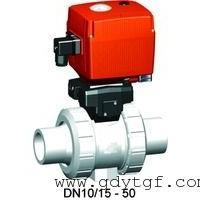 电动塑料球阀 +GF+107型球阀 带承插焊插端电动球阀