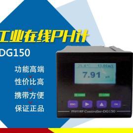 工�I在�PH�O�y�x 酸�A度值在��y控�x器�O��DG150
